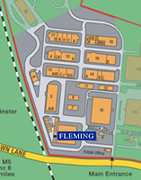 A zoomed in map of Hartlebury Industrial Estate